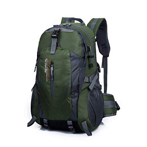 Wanderer Erweiterbar Rucksack (Djl Damen zu Fuß im Freienrucksack, Innenrahmen-Wanderer-Rucksack, verwendbar für die im Freienreise, die das Kampieren wandert (Farbe : Armeegrün, größe : L33CMXW20CMXH50CM))