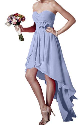 ivyd ressing robe HI-LO forme de cœur Fleurs Mousseline Party Prom robe Lave-vaisselle robe robe du soir Lilas