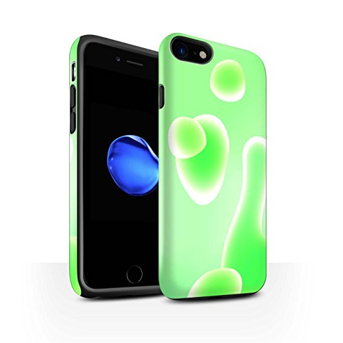 STUFF4 Matte Harten Stoßfest Hülle / Case für Apple iPhone 8 / Blau Muster / Lavalampe Kollektion Grün