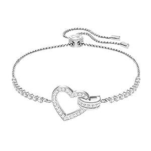 Swarovski Women White Crystal Link Bracelet of Length 7cm ... - photo #13