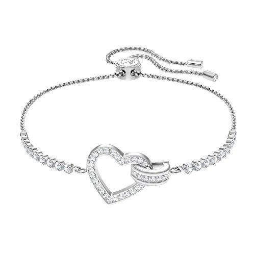Swarovski Lovely Armband, Weiss, rhodiniert
