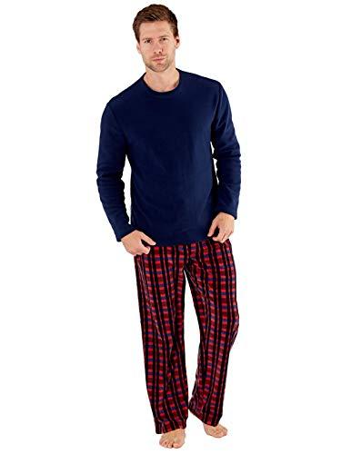 SaneShoppe - Conjunto Pijama térmico Hombre Rojo