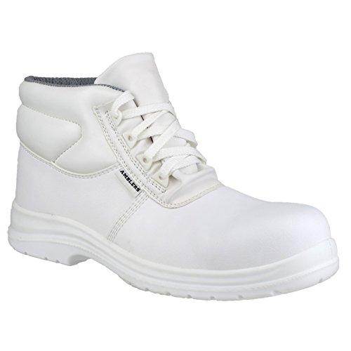 Amblers FS513 - Chaussures Montantes de Sécurité - Adulte Unisexe Blanc