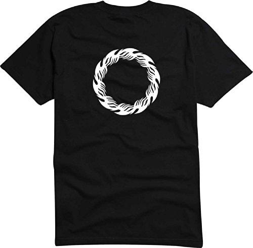 T-Shirt Herren Kratzer feuer Schwarz