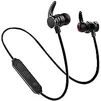 Wärme music Écouteurs Bluetooth V4.2,Oreillette Bluetooth stéréo Hi-FI avec Microphone HD Magnétique Ecouteur sans Fil Antibruit Oreille,pour iPhone, iPad, Samsung, Nexus, HTC, etc.