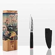 KOTAI - Couteau d'Office (Couteau ou Couteau à Fruits) - Lame de 10 cm - Fabriqué et Aiguisé à la Main - Acier