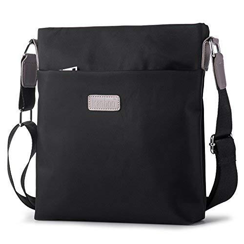 Kleine Schultertasche Herrentasche Umhängetaschen Männer Messenger Bag Businesstasche zum Arbeit Uni Reise Sport Schulranzen Hengwin - Schwarz