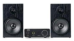 McGrey BMS-80 Micro-Stereo Anlage (inkl. Mini-Verstärker und Boxenkabel, Cinch und AUX-Eingang 80W) schwarz
