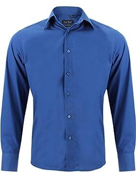 ENZO Camicia Uomo Classica Regular Fit Confortevole e Elegante con Maniche Lunghe da S a XXL