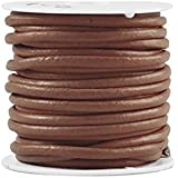 Zacoo cordón de cuero correas cordón de cuero 3 mm claro marrón