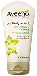 Aveeno Positively Radiant Skin Brightening Scrub, Gentle Facial Exfoliator - 5oz