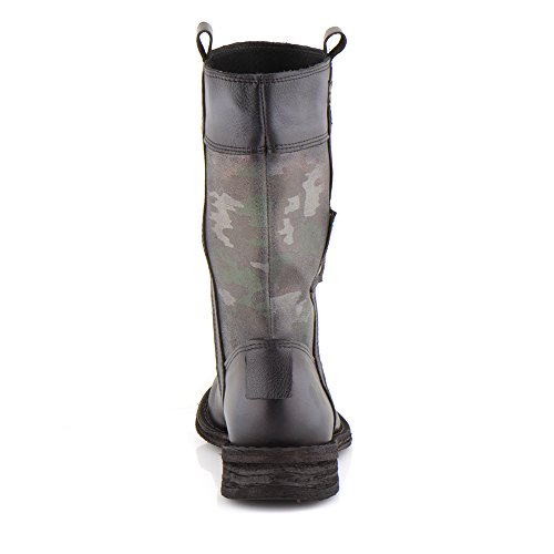 Felmini - Damen Schuhe - Verlieben Gredo A288 - Militärstiefel - Echte Leder - Mehrfarbig Mehrfarbig
