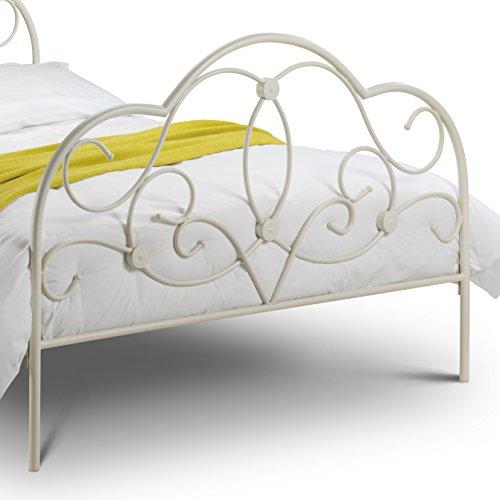 Julian Bowen Arabella Bed, Stone White, King Size