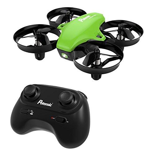 ohne,ohne Kamera, RC Quadcopter 2.4G 6 Achsen mit Höhenhaltefunktion, Kopf-Modus, ein Knopf abheben/Landung Quadcopter mit Fernbedienung für Anfänger - Grün (Außerhalb Der Kamera)