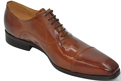 Uomo derbies 100% cuir chaussures de ville homme à lacets l2205_1 Tabac