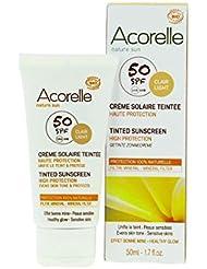 Acorelle - Crème solaire teintée SPF 50 50Ml - Livraison Gratuite pour les commandes en France - Prix Par Unité