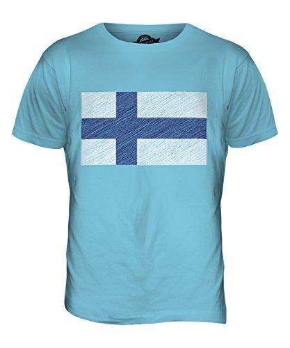 CandyMix Finnland Kritzelte Flagge Herren T Shirt Himmelblau