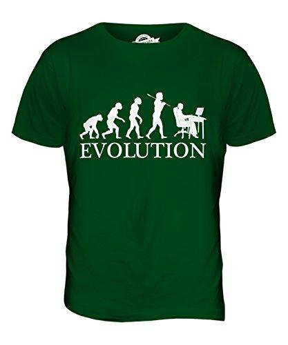CandyMix Angestellter Büroangestellter Evolution Des Menschen Herren T Shirt Flaschengrün