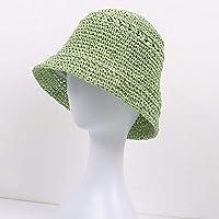 FHHYY sombreo Sombrero de Mujer con Lazo Negro Grande Sombreros de Sol de Verano empacables para Mujer Sombrero de Paja Flojo sólido Estilo Coreano Sombrero de Playa de ala Ancha,s