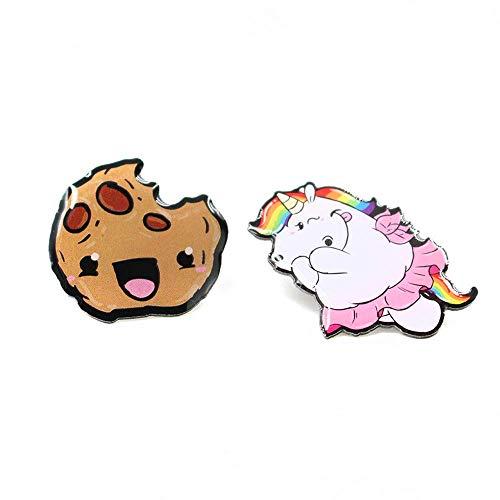 Pummeleinhorn Damen Pummeleinhorn & Cookie Pins, Bunt, 25 x 25 mm/27 x 30 mm Cookie-pin