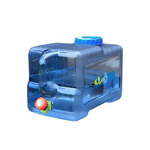 Bid/ón de Agua port/átil con Tapa Seguro y no t/óxico con Grifo Krystallove Camping Cubo port/átil para Exterior dep/ósito de Agua