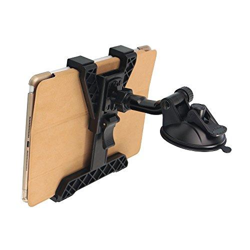 OHLPRO Auto Tablet Halterung, Dash Tablet Halter für Auto Windschutzscheibe Dashboard Universal 360 Grad-Drehung für iPad Mini 4/3/2/1 Samsung Galaxy Größe 7/8 / 9.7 / 10.5 Zoll (Ipad 1 Dashboard Mount)