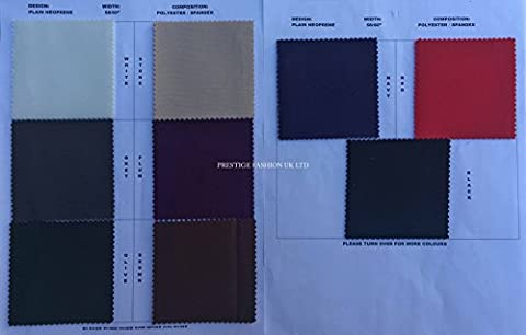 PRESTIGE Plain 2mm Thick Foamed Neoprene Stretch Fabric Sportswear Polyester
