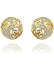 DD High Qualitynickle Free Antiallergic New Fashion Jewelry 18K Véritable Anneau Plaqué Or Pour Plaqué Or 1.9Cmx1.9Cm
