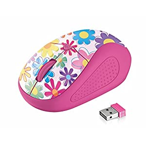 Trust Primo Wireless Optical Mouse - 1000/1600 DPI - Pink