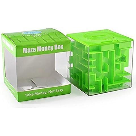 SainSmart Jr. Amaze CB-22 Cubo Del Laberinto Del Dinero Del Banco Y únicos Regalos Perfectos Para Los Niños-Satisfacción 100% Garantizada! (Verde)