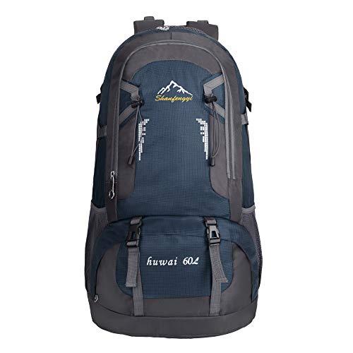Rucksack große Kapazität 60L Outdoor-Sport Bergsteigen Tasche Studenten Reiserucksack 60 Liter Marine