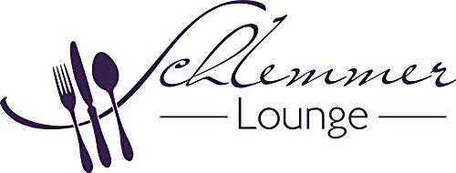 GRAZDesign 620567_30_040 Wandtattoo Küche Schlemmer-Lounge | Küchen-Aufkleber und Tattoo für Deine Wände - Schränke - Fliesen - Möbel | für Restaurant und Bars (79x30cm//040 violett)