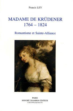Madame de krudener, 1764 1824