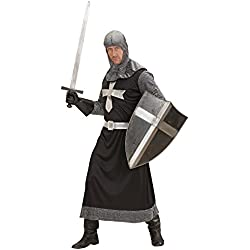 Desconocido Disfraz de caballero medieval negro para hombre