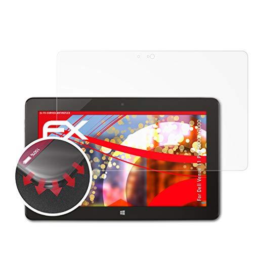 atFolix Schutzfolie passend für Dell Venue 11 Pro 5000/7000 Folie, entspiegelnde & Flexible FX Bildschirmschutzfolie (2X)