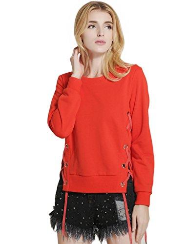 SunIfSnow - Sweat-shirt - Uni - Manches Longues - Femme red