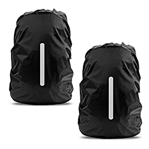 41GJ97YFH7L. SS300  - LAMA 2pcs Waterproof Rain Cover for Backpack, Reflective Rainproof Protector for Anti-dust and Anti-Theft XS 10L-17L…