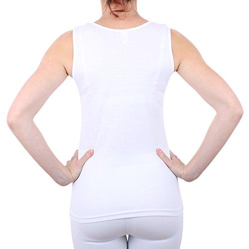 Damen Hemd mit Spitze (Shirt, Top, Unterhemd) Nr. 57/2 ( Weiß / 44/46 ) - 3