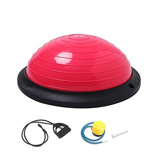 ISE Balance Trainer Ball Ø 46 cm, Attrezzatura Fitness con Corde Elastiche, SY-BAS1003 (Rosa)