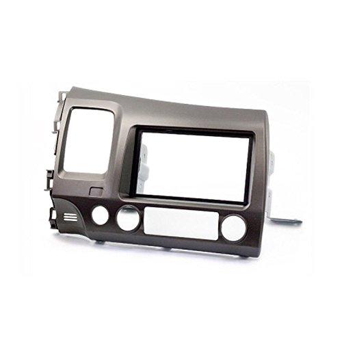carav 11-063 Doppel DIN Autoradio Radioblende DVD Dash Installation Kit für Civic Limousine Links Lenkrad Faszie mit 173 * 98 mm und 178 * 102 mm (Lenkrad-kits)