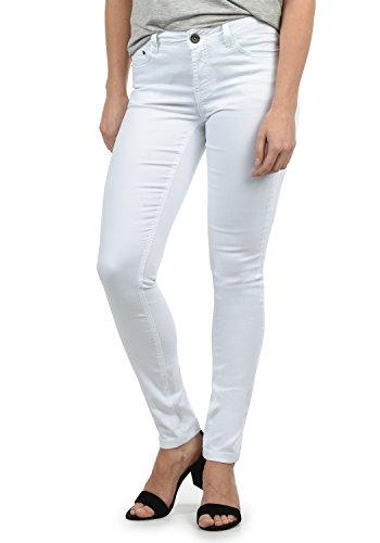 DESIRES Lala Damen Jeans Denim Hose Röhrenjeans Stretch Skinny Fit, Größe:W30/30, Farbe:White (0001)