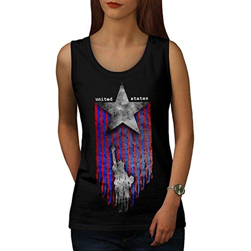 United States Star USA Women S Tank Top | Wellcoda (Top Damen Weiß Alabama Tank)