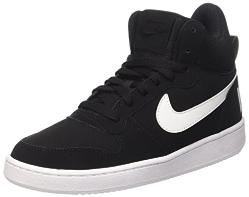 Nike Damen Wmns Court Borough Mid Sportschuhe-Basketball, Schwarz  (black/white), 38.5 EU