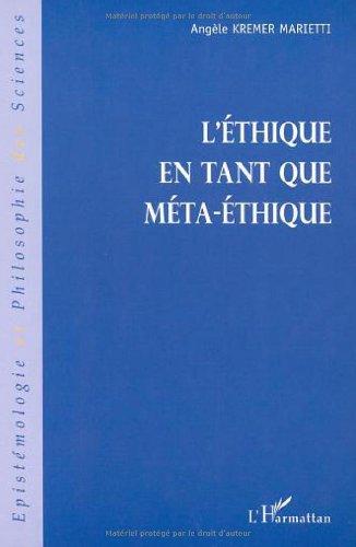 Ethique en tant que meta-éthique (l')