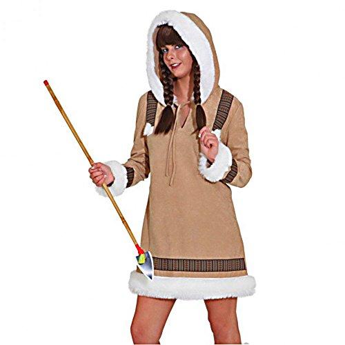 Eskimo Frau Kostüm - Eskimo Frau de Luxe , Erwachsenen-Größe:36/38