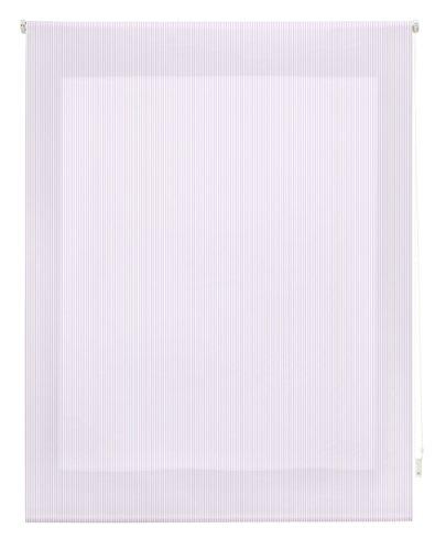 Blindecor Estor Enrollable, Tela, Rayas Lila, 160 x 250 cm