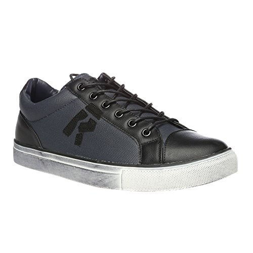 RIFLE Sneakers da uomo, scarpa bassa stringata - Mod. 162-M-303-840 Nero - Blu