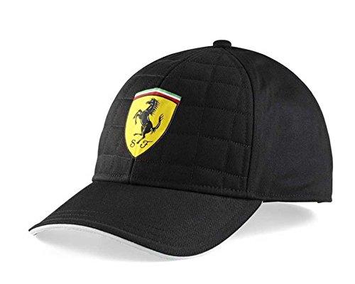 Ferrari Gorra de gorro de punto de edredón, fórmula 1, Negro, ajustable, OSFA