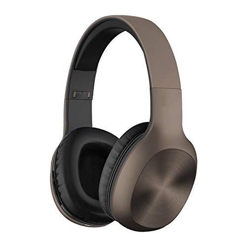 Bluetooth-Faltkopfhörer, kabelloser und kabelgebundener Modus mit weichen Memory-Protein-Ohrenschützern, eingebautem Mikrofon für TV-Spiele, Telefon PC Laptop, Hi-Fi-Geräuschunterdrückung, Khaki - Hi Khaki
