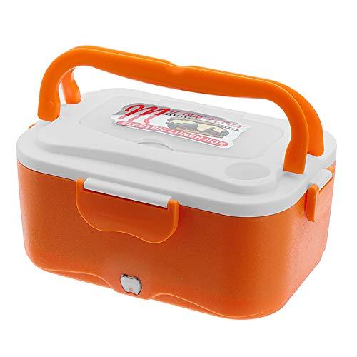 AIQQ Elektrische Lunchbox Lunch-Boxen Brotdose/Elektrische Box-Brotdose Auto-LKW Tragbare Heizungen, 12V-24V 1.5L Heizung Lebensmittel für Fahrer Heizbehälter -35W,Orange,24V